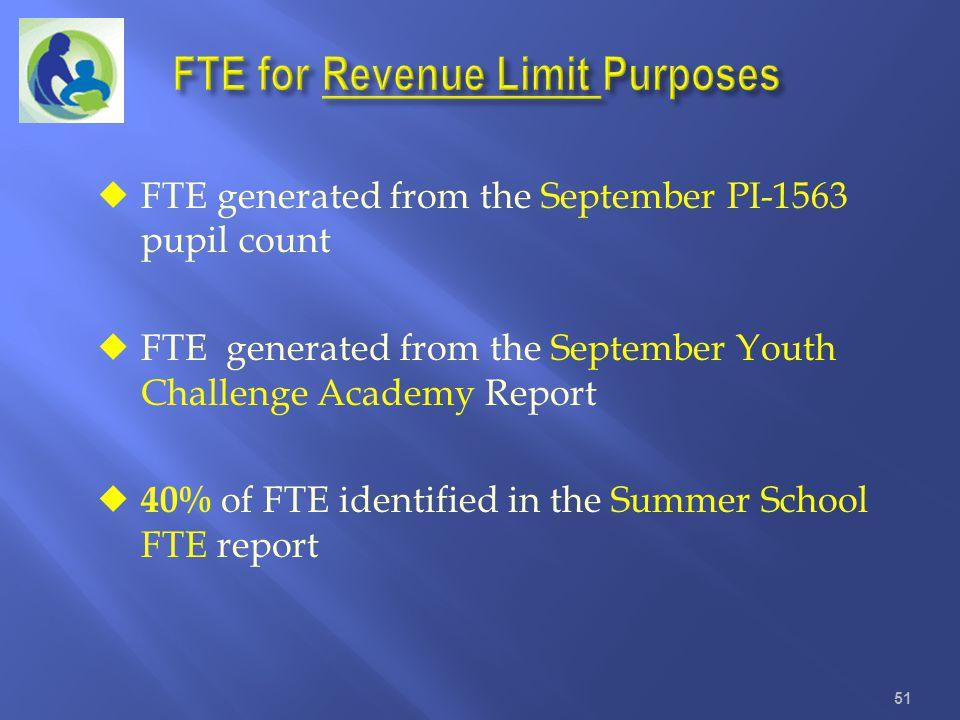 FTE for Revenue Limit Purposes