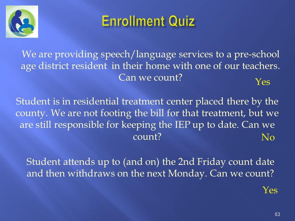 Enrollment Quiz