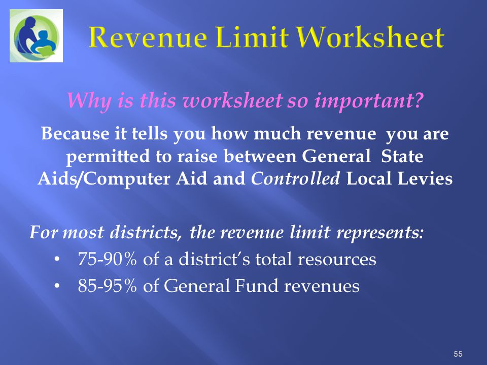 Revenue Limit Worksheet