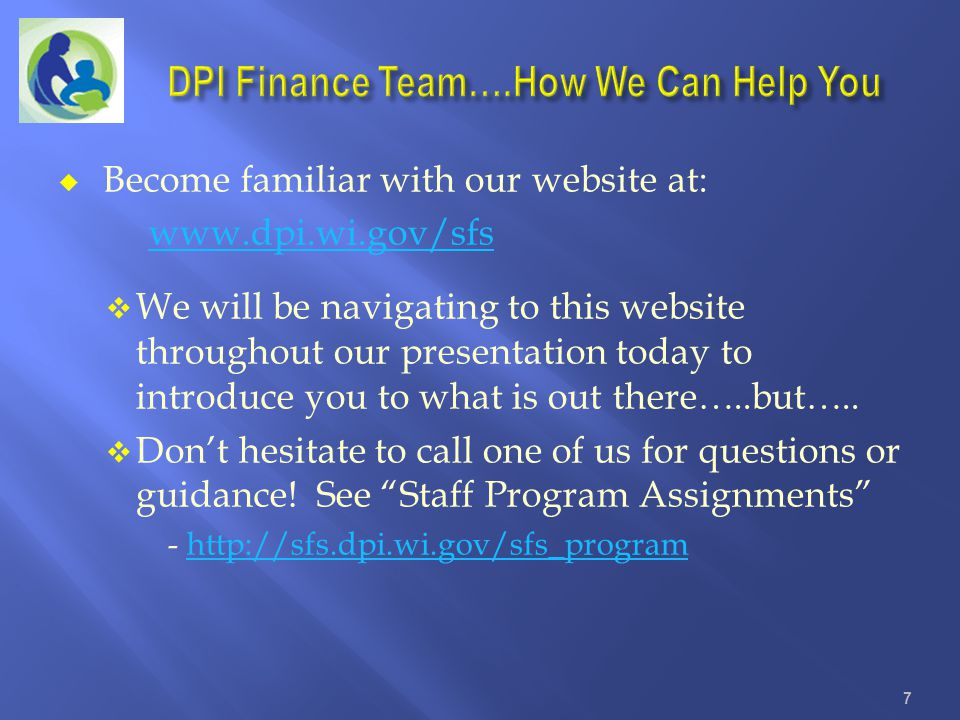 DPI Finance Team….How We Can Help You