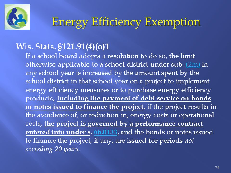 Energy Efficiency Exemption