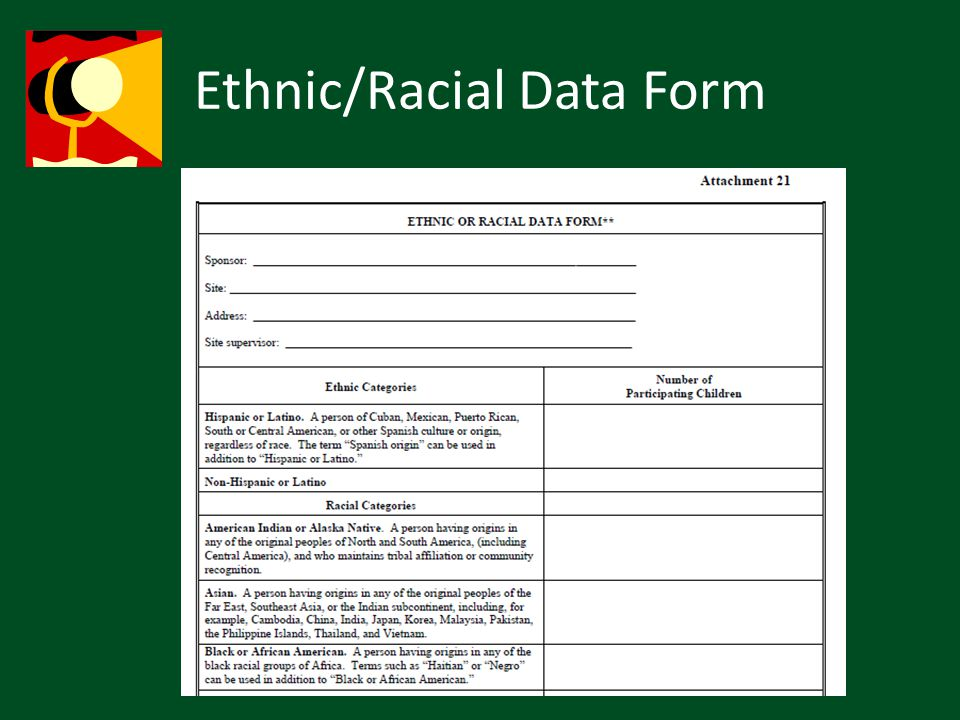 Ethnic/Racial Data Form