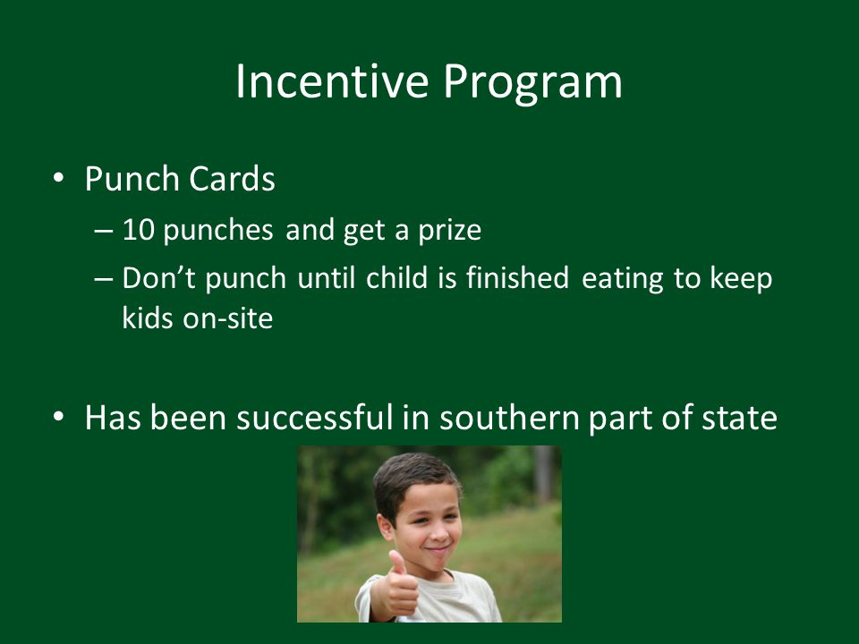 Incentive Program Punch Cards