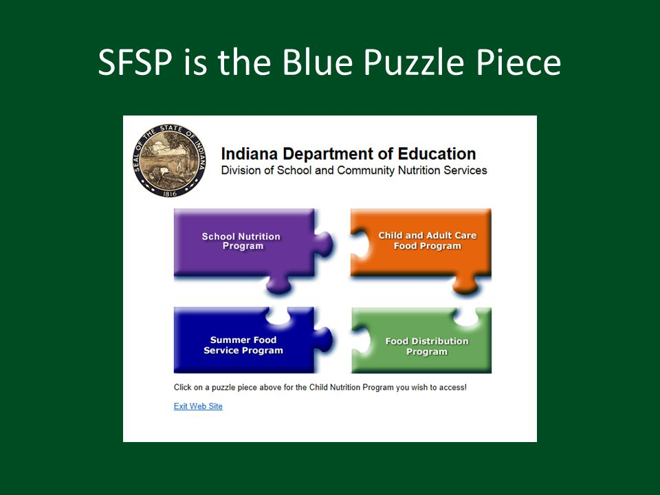 SFSP is the Blue Puzzle Piece