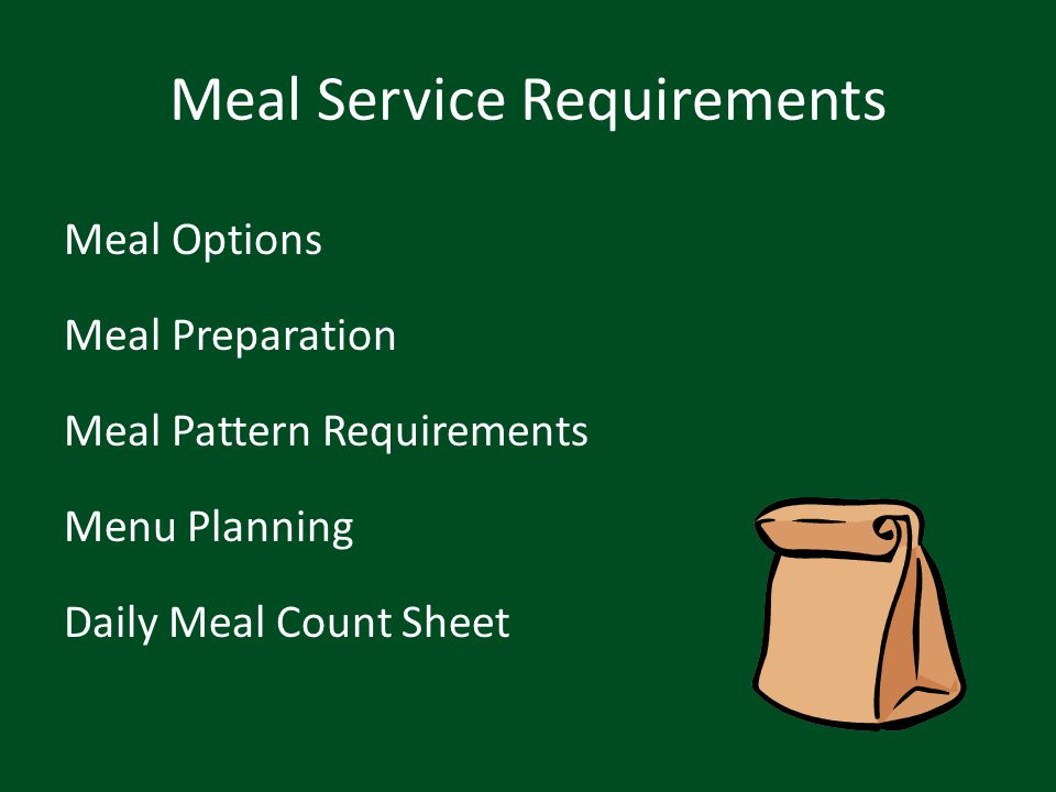 Meal Service Requirements