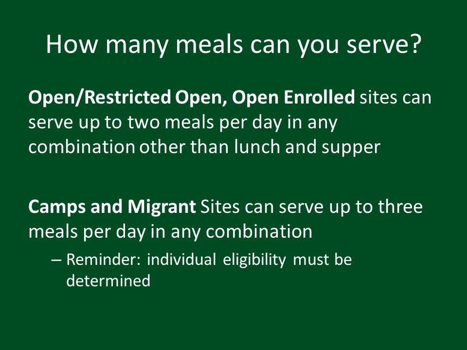 How many meals can you serve
