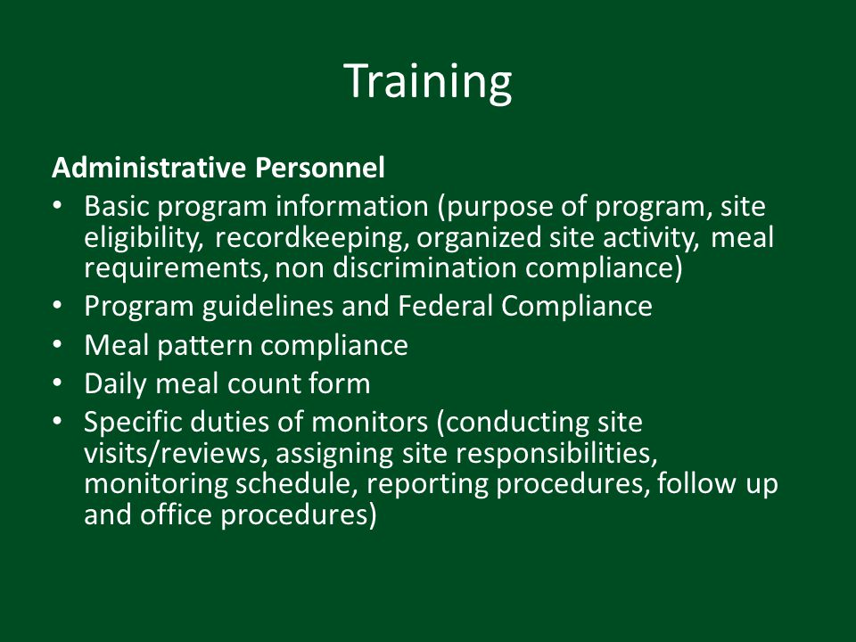 Training Administrative Personnel