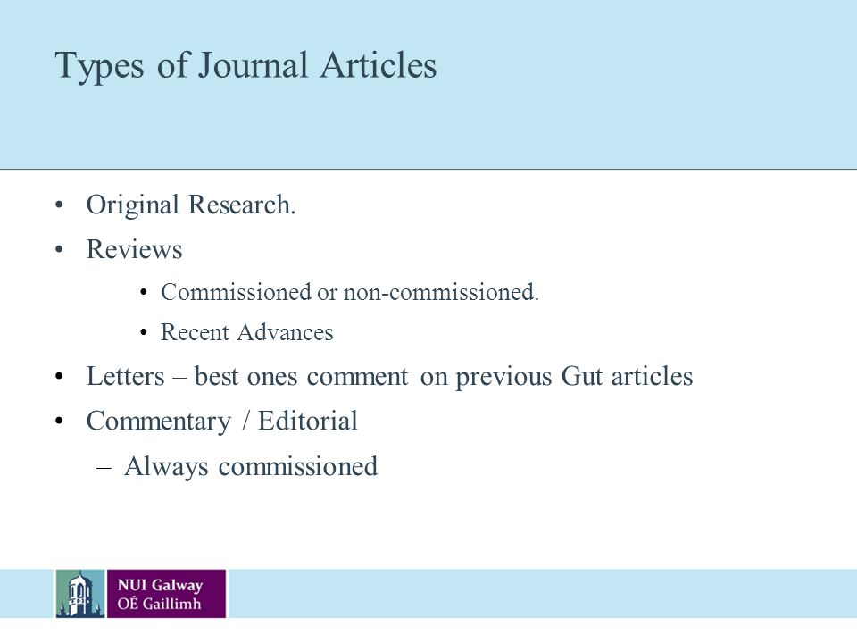 Types of Journal Articles