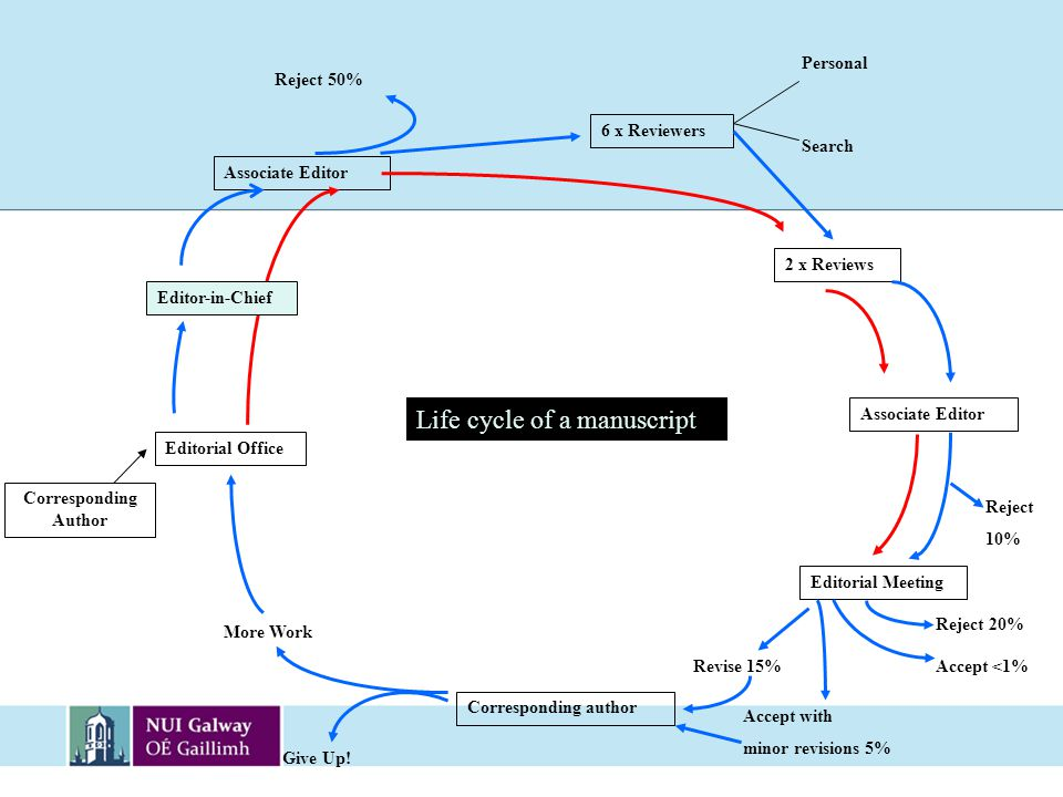 Life cycle of a manuscript