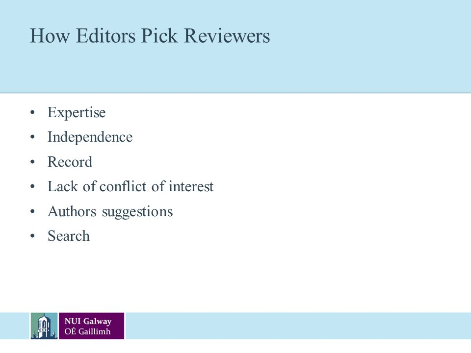 How Editors Pick Reviewers