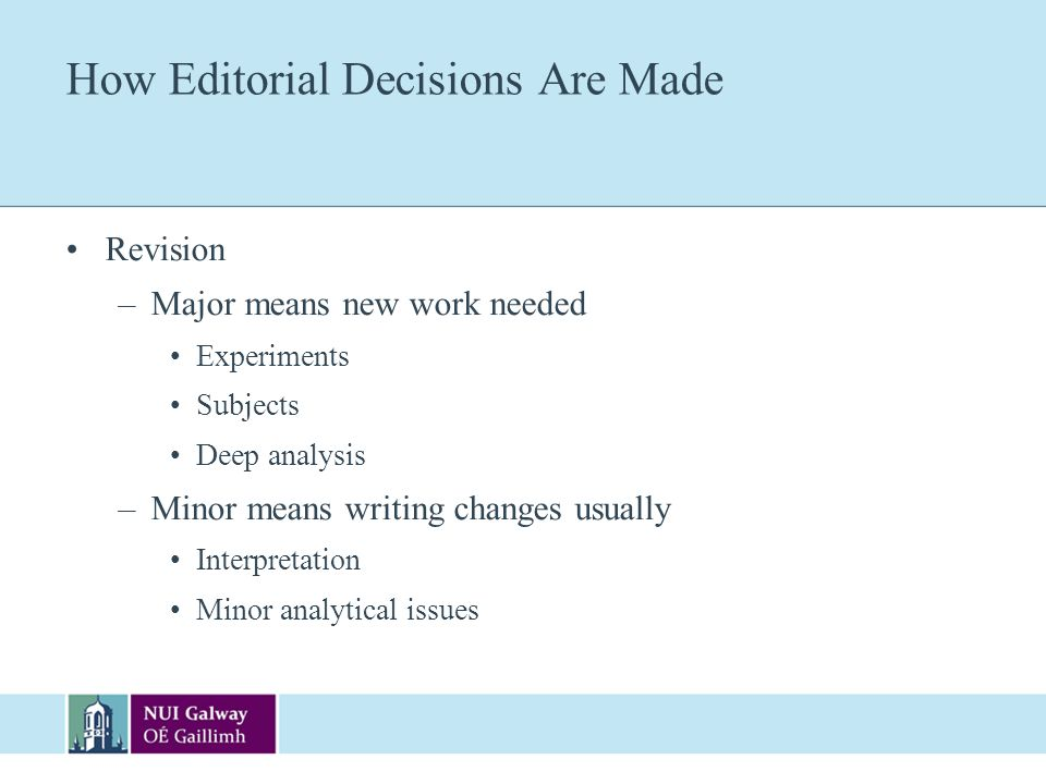 How Editorial Decisions Are Made