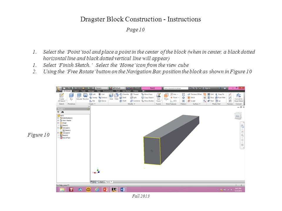 Dragster Block Construction - Instructions