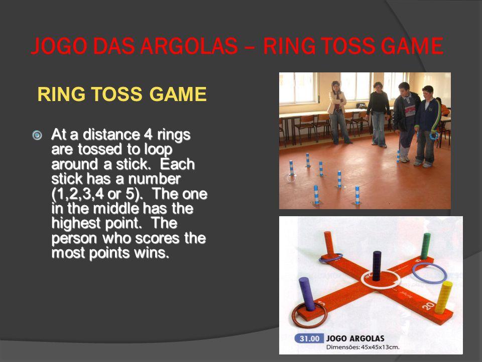 JOGO DAS ARGOLAS – RING TOSS GAME