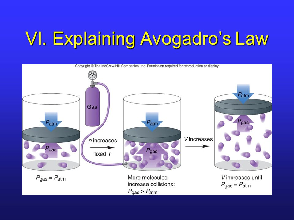 VI. Explaining Avogadro's Law