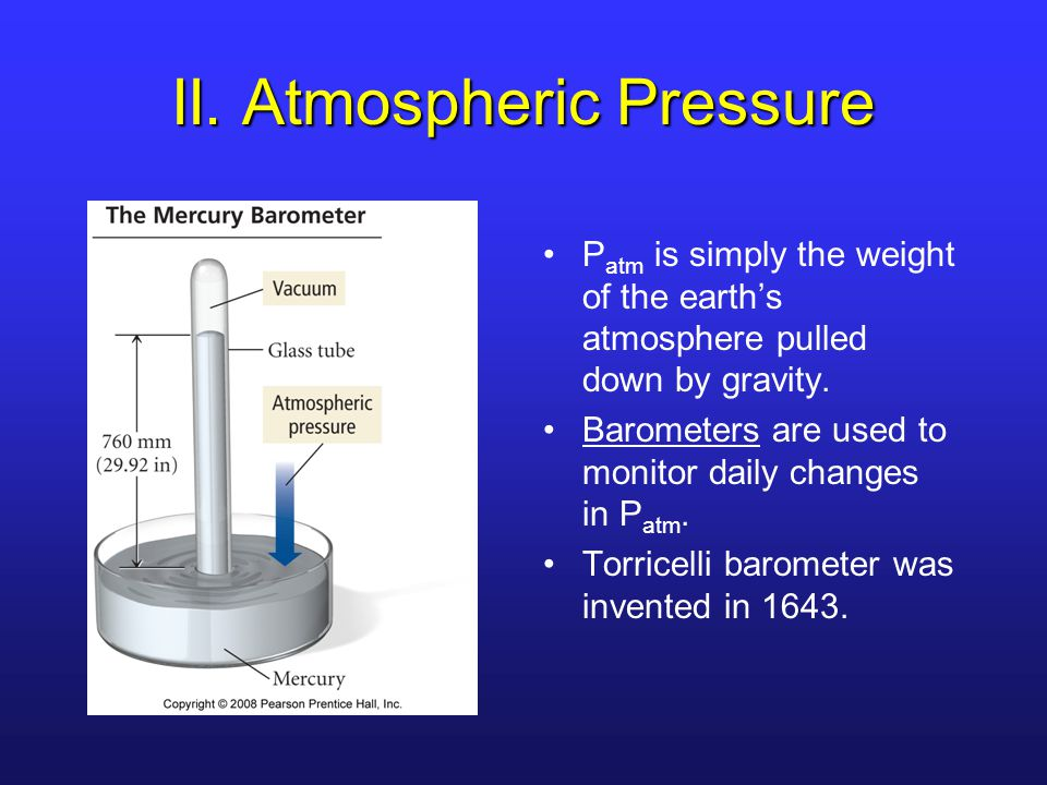 II. Atmospheric Pressure
