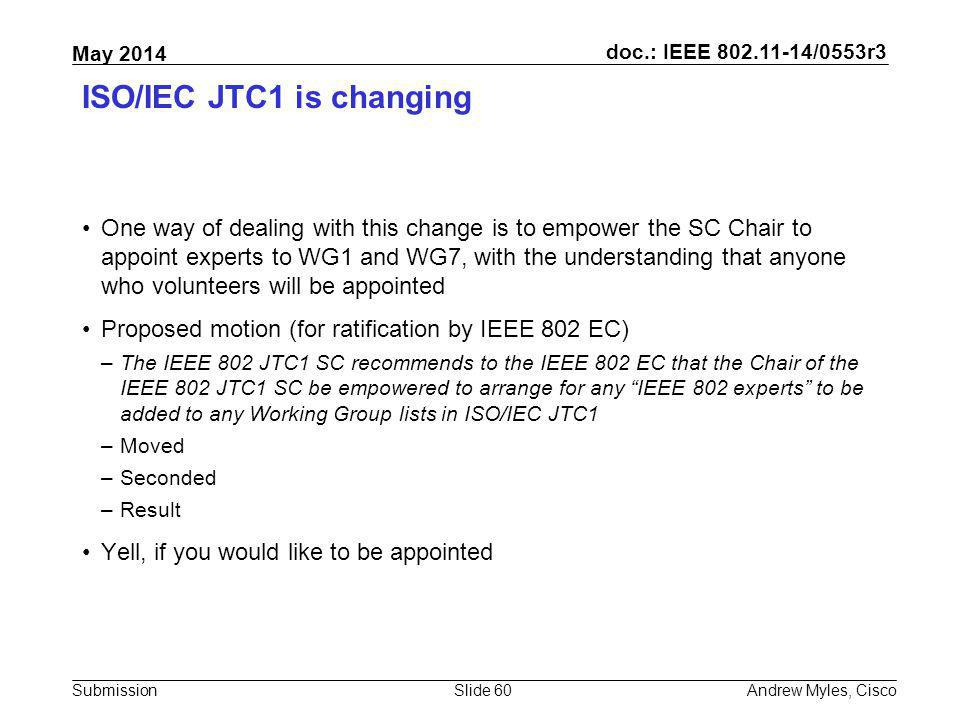 ISO/IEC JTC1 is changing