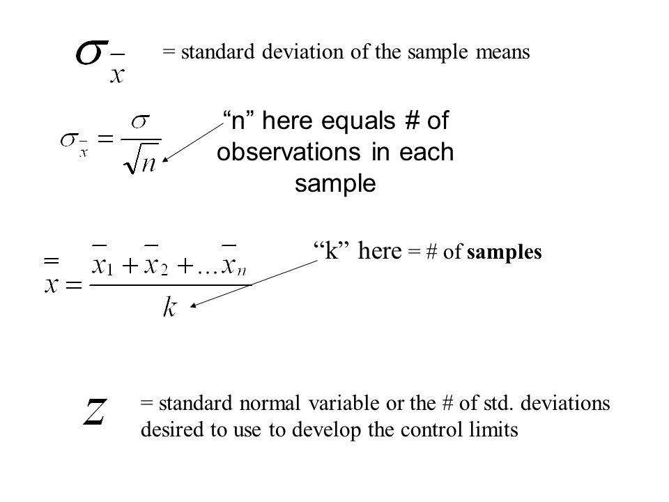 n here equals # of observations in each sample