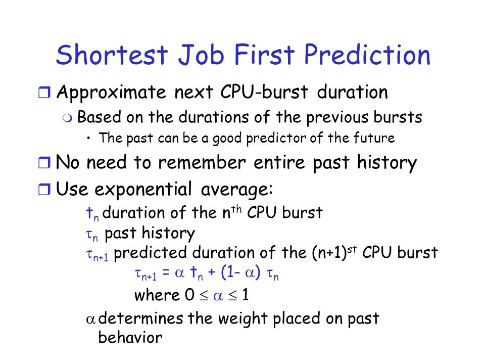 Shortest Job First Prediction