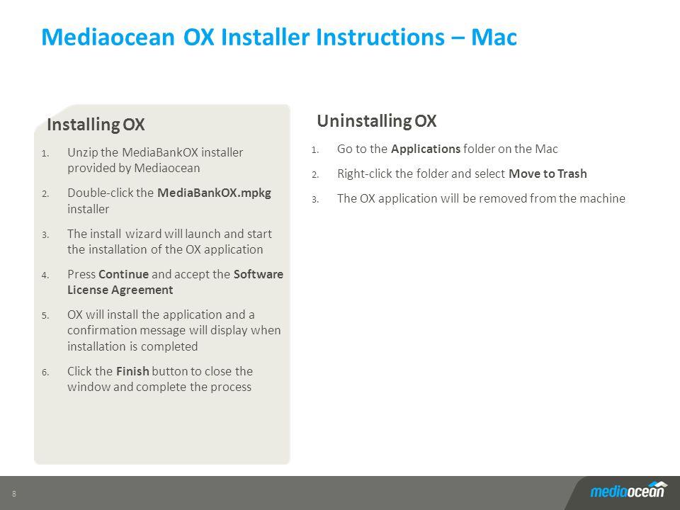 Mediaocean OX Installer Instructions – Mac