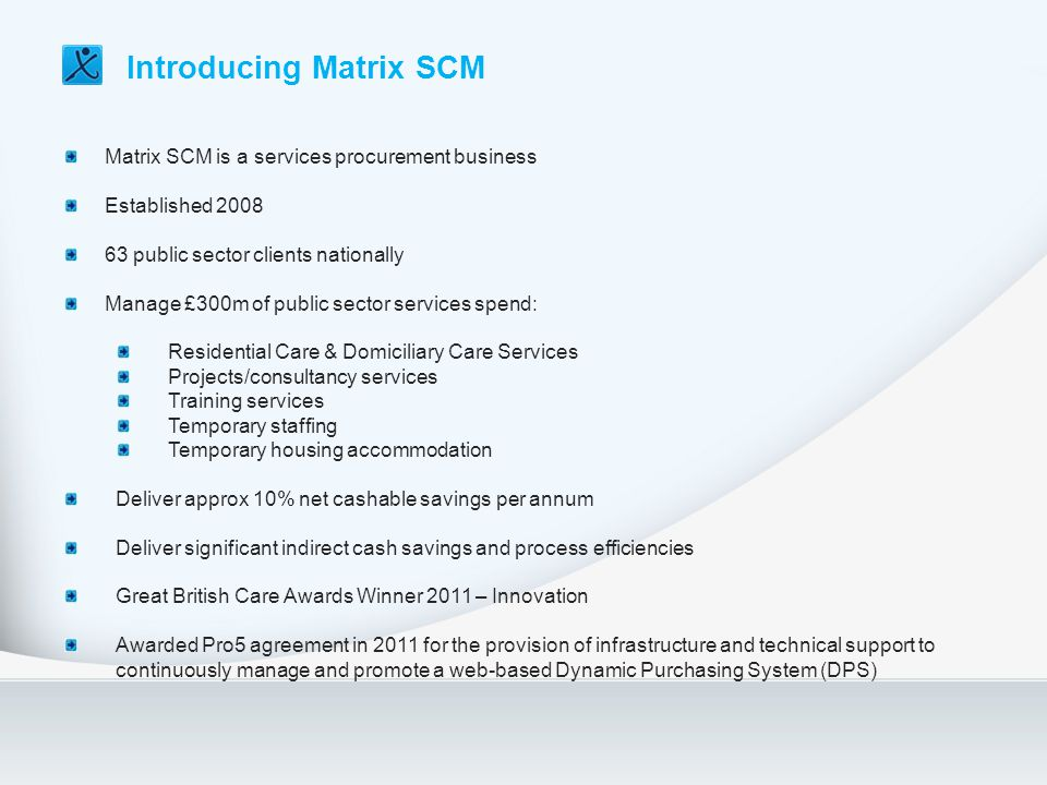 Introducing Matrix SCM