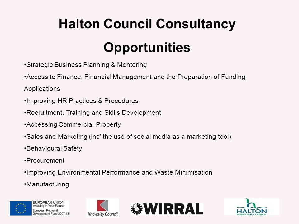 Halton Council Consultancy Opportunities