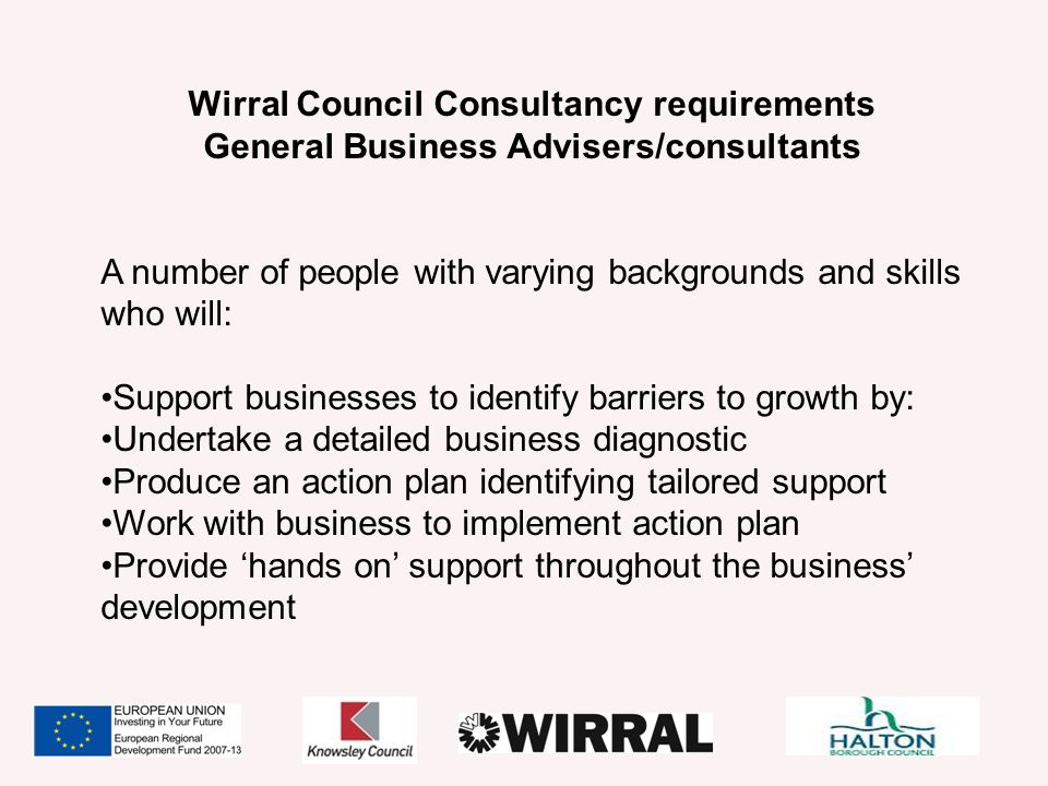 Wirral Council Consultancy requirements