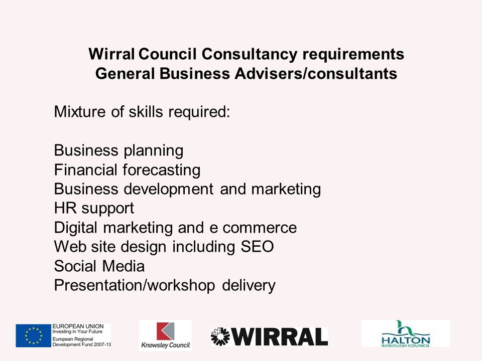 General Business Advisers/consultants