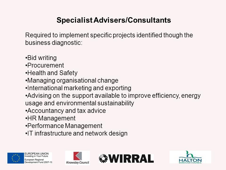 Specialist Advisers/Consultants