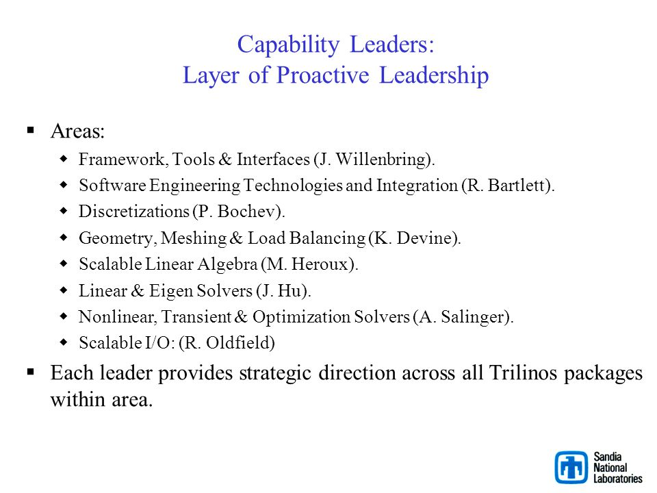 Capability Leaders: Layer of Proactive Leadership