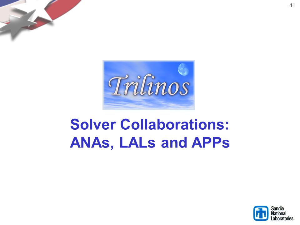 Solver Collaborations: ANAs, LALs and APPs
