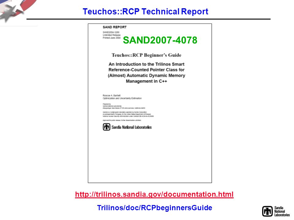 Teuchos::RCP Technical Report