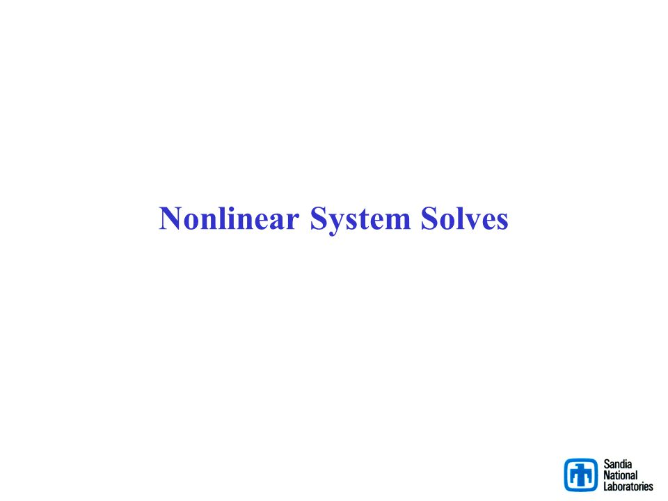 Nonlinear System Solves