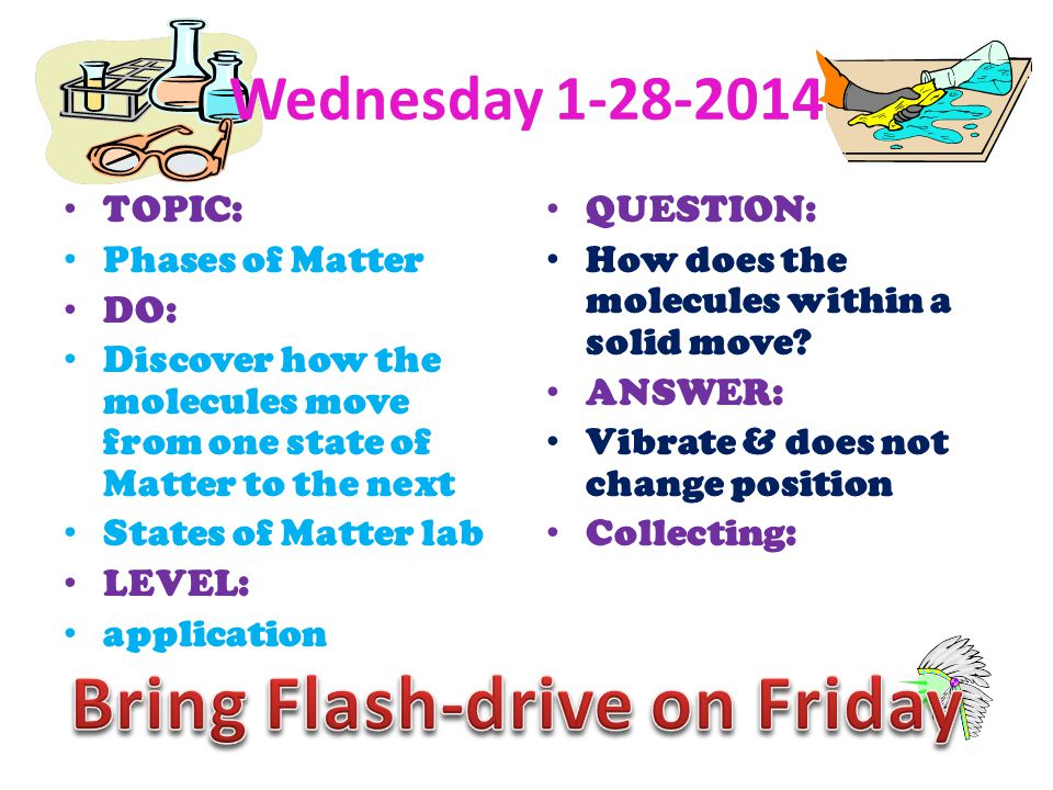 Bring Flash-drive on Friday