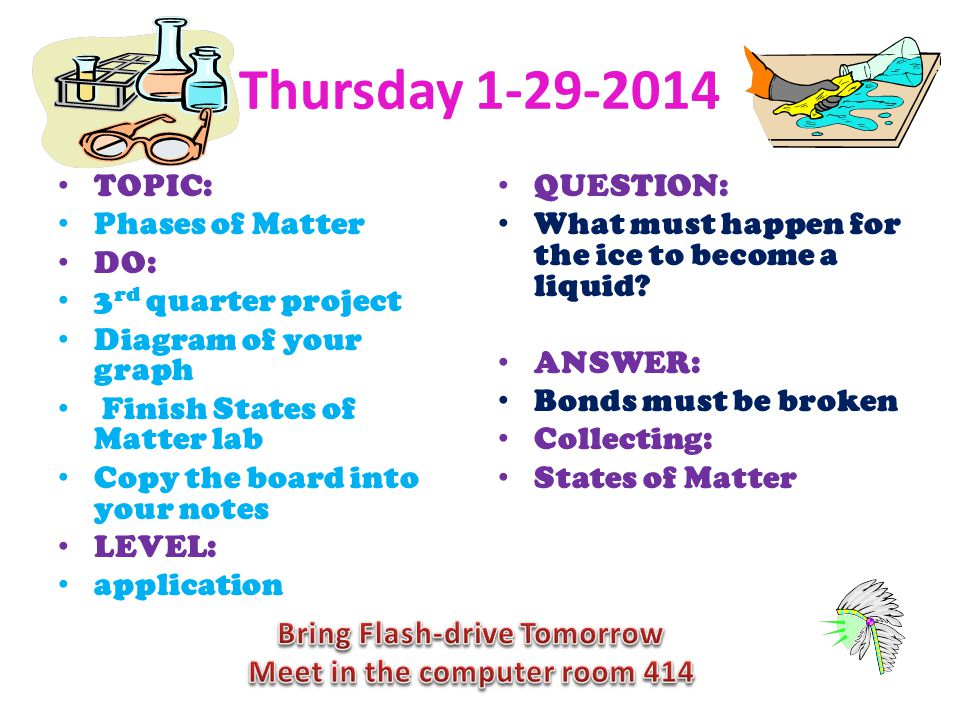Bring Flash-drive Tomorrow Meet in the computer room 414