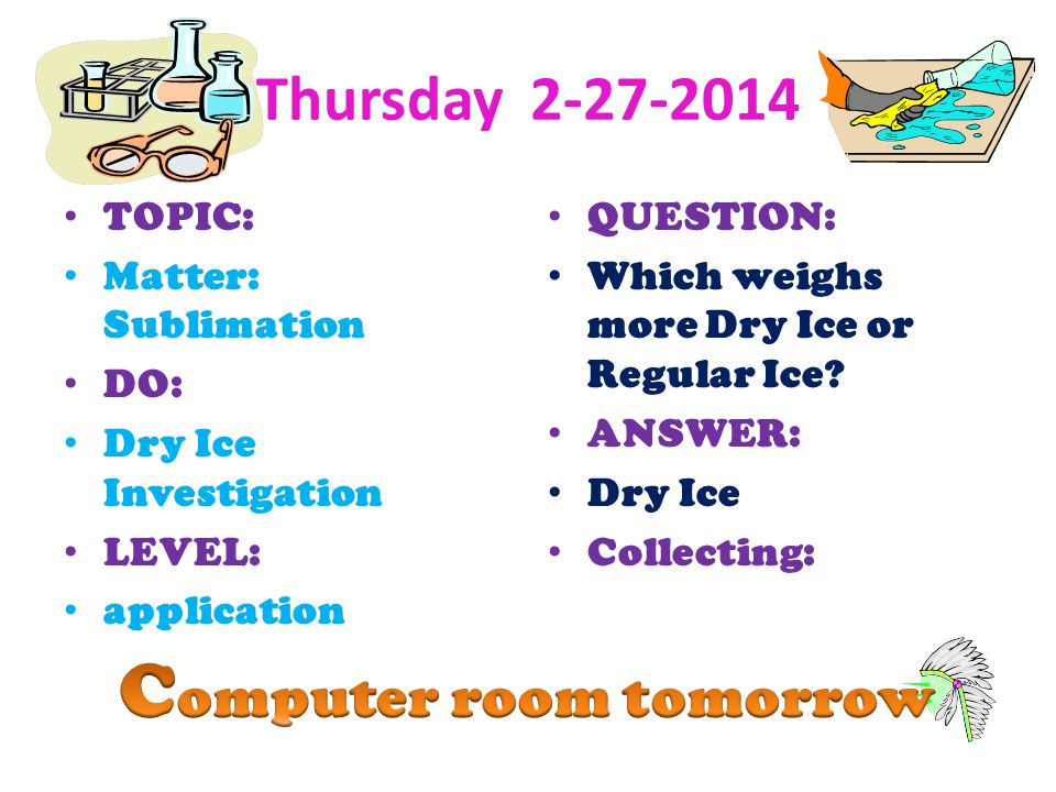 Computer room tomorrow