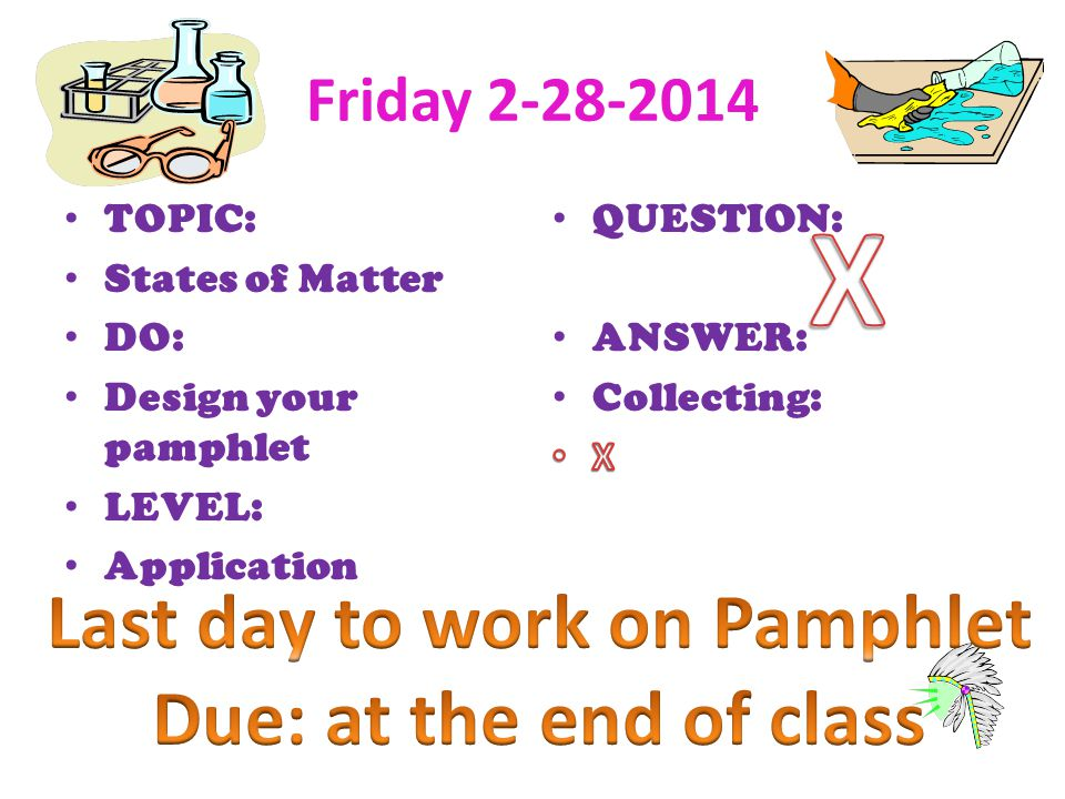 Last day to work on Pamphlet