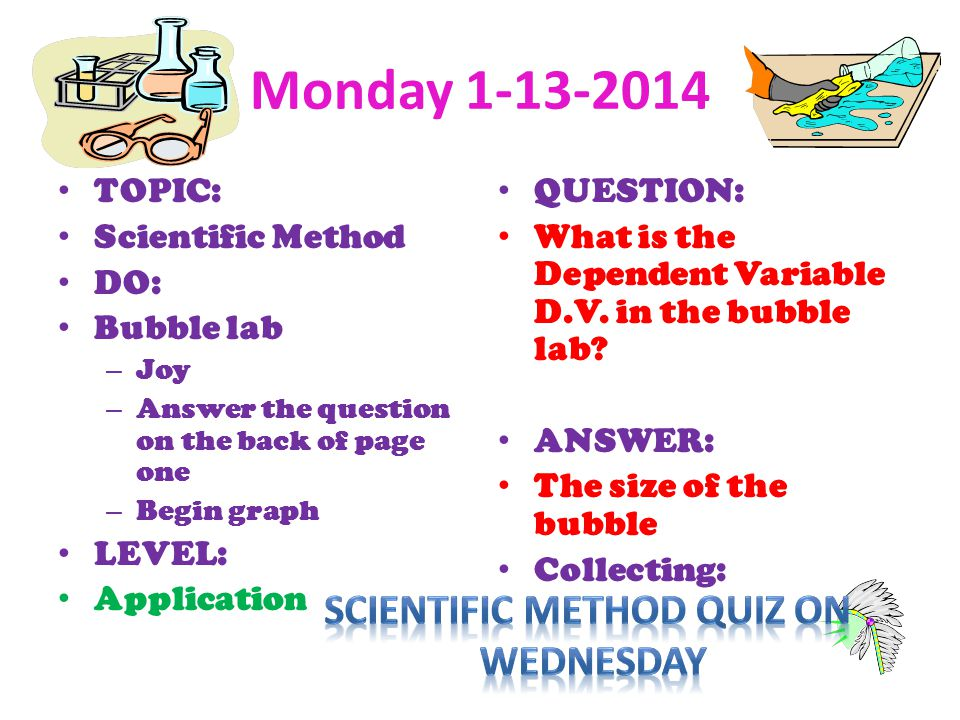 Scientific Method quiz on