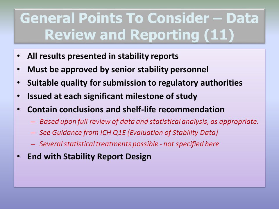 General Points To Consider – Data Review and Reporting (11)