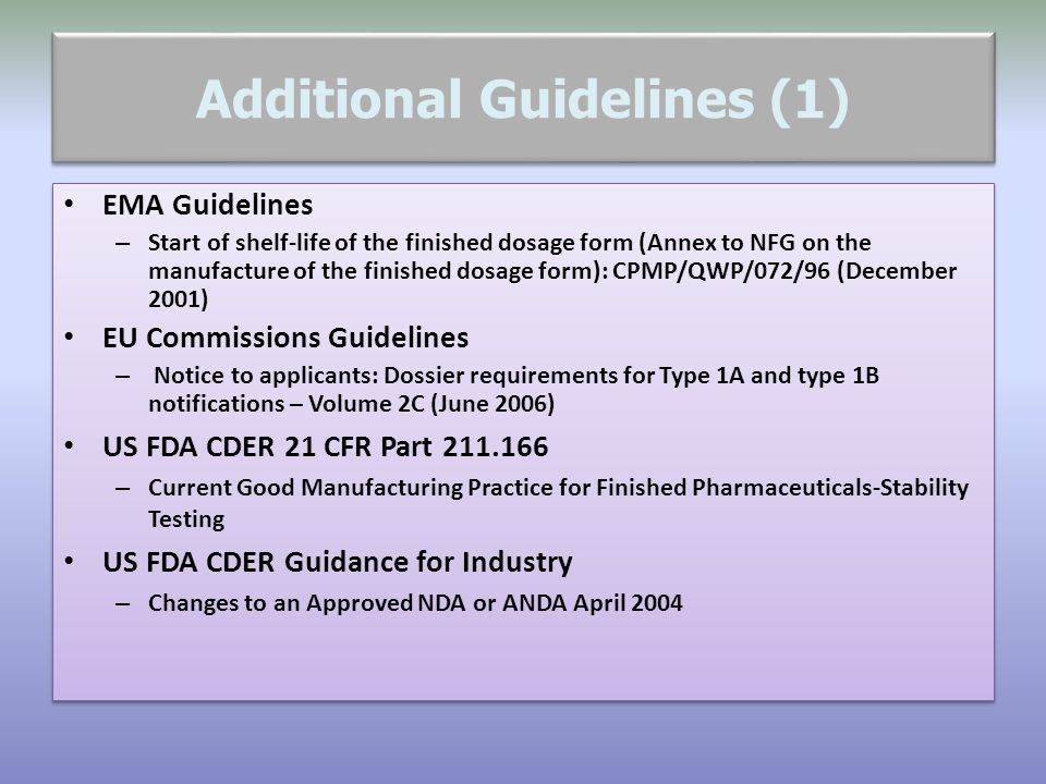 Additional Guidelines (1)