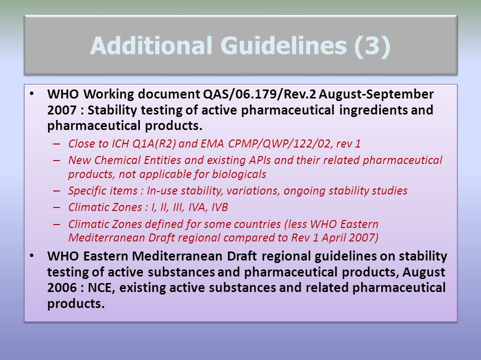 Additional Guidelines (3)