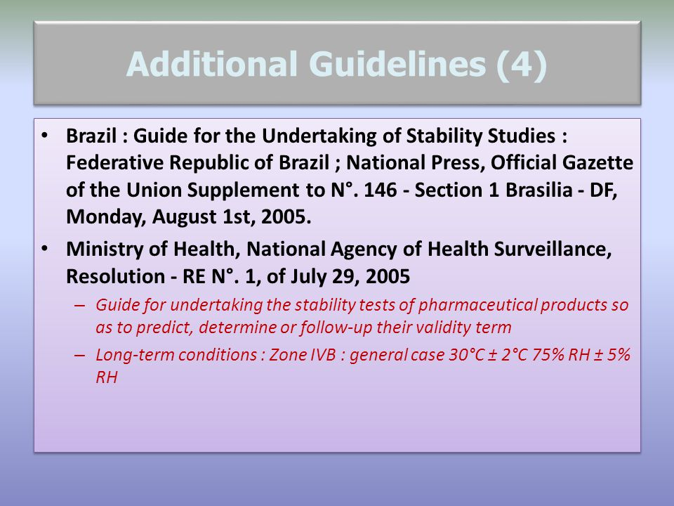Additional Guidelines (4)