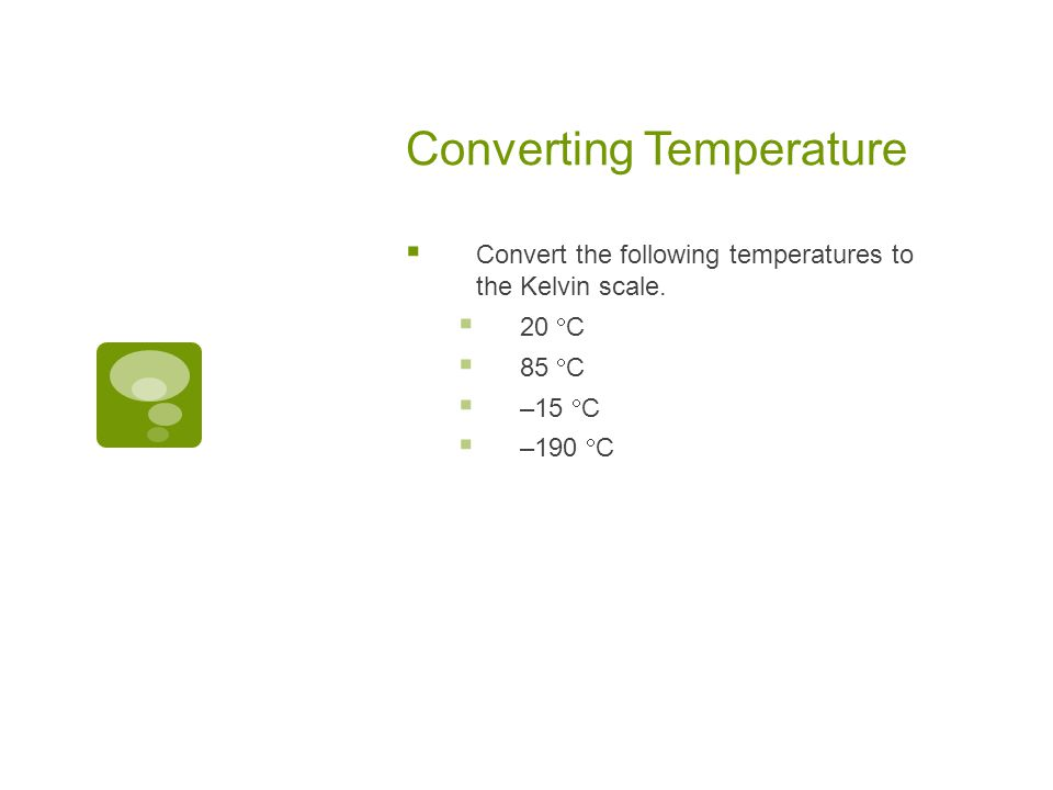 Converting Temperature