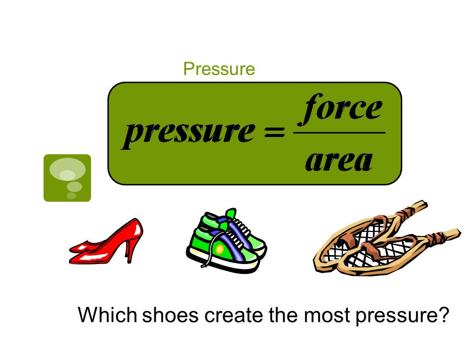 Which shoes create the most pressure