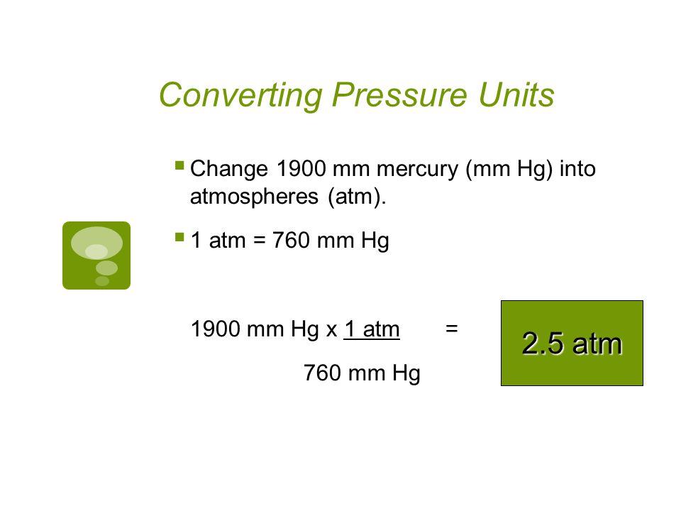 Converting Pressure Units