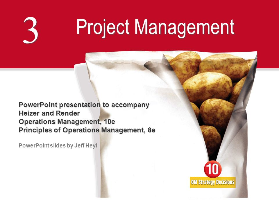 3 Project Management PowerPoint presentation to accompany