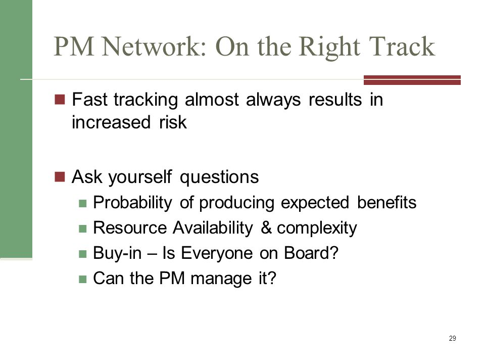 PM Network: On the Right Track