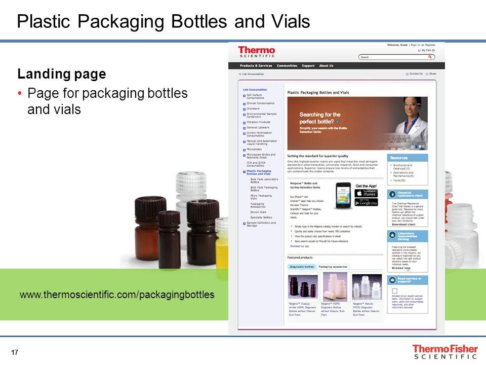 Plastic Packaging Bottles and Vials