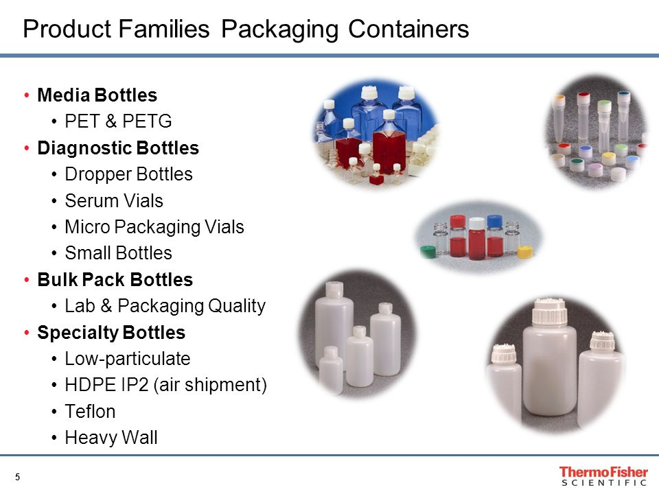 Product Families Packaging Containers