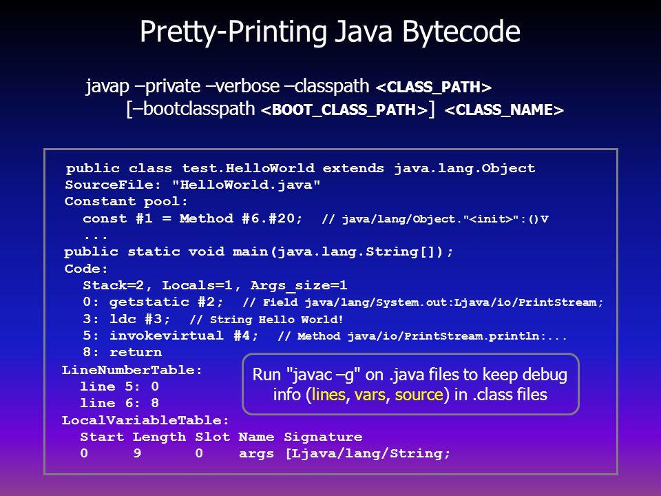Pretty-Printing Java Bytecode