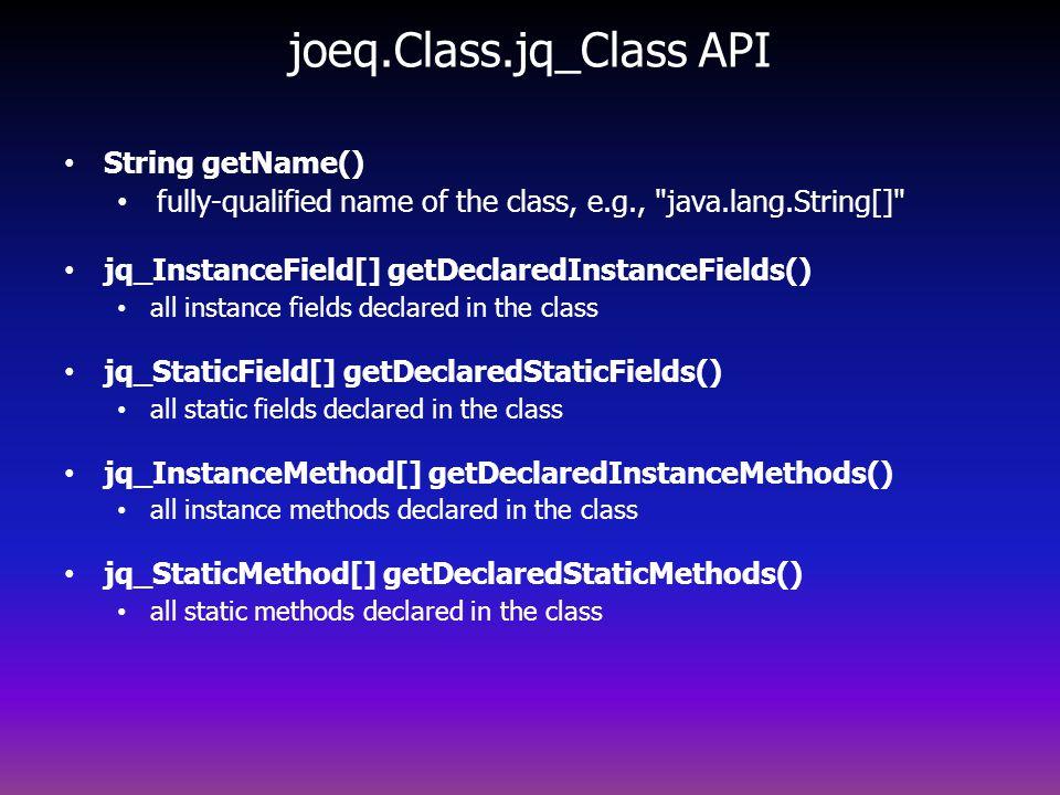 joeq.Class.jq_Class API